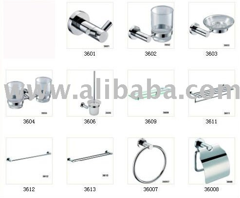 36-Series whole set sales Zine alloy bathroom accessory