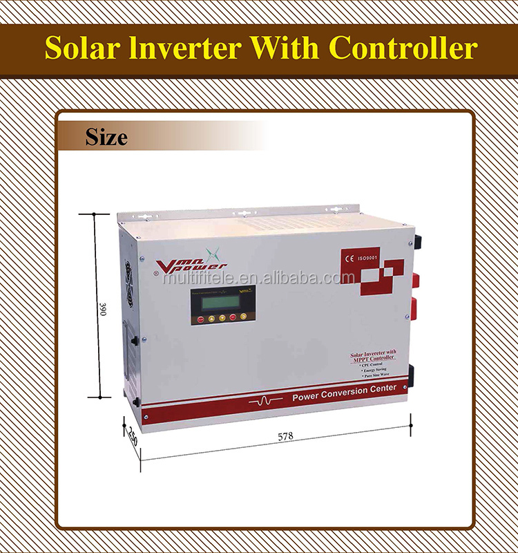 6KW 48V hybrid inverter with 60A MPPT solar charge controller