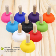 Sedex Factory New universal silicone toilet plunger shape mobile phone holder