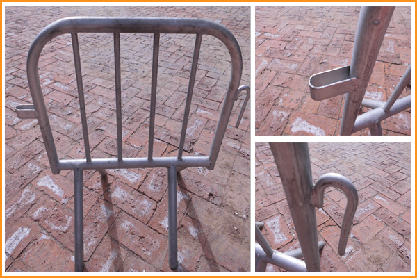 iron metal steel crowd control barrier made in China