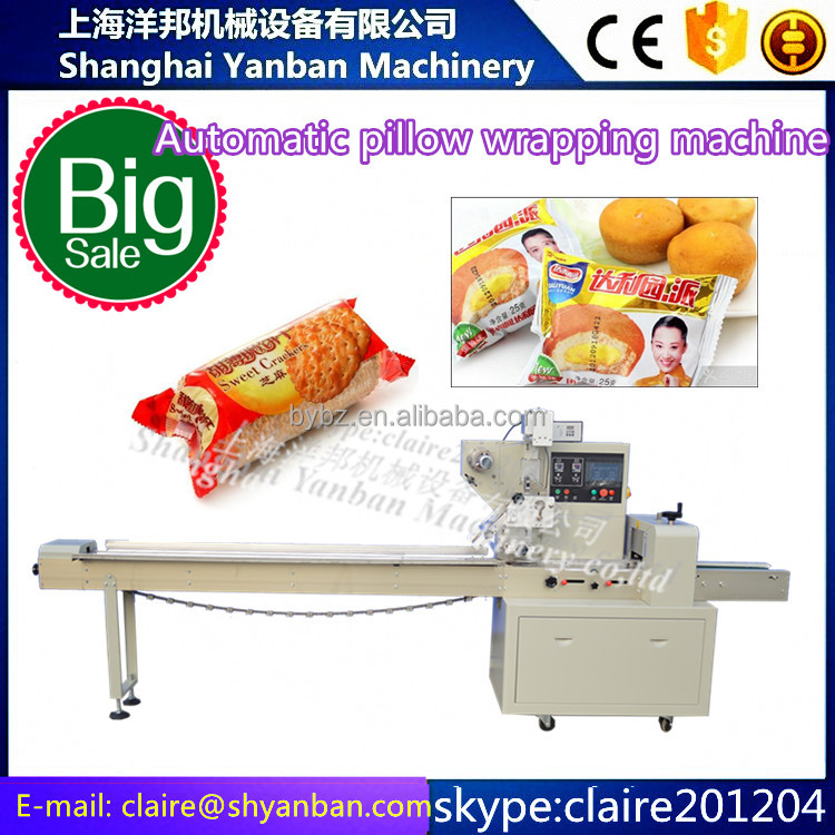 YB-250 automatic sausage soap candy biscuit pillow flow wrapping machine