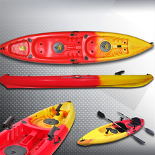 Rotoational Molded LLDPE Material 12.5 Foot Sit-On-Top Tandem Kayak with paddle