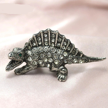 men dinosaur Skeleton lapel Pin Brooch
