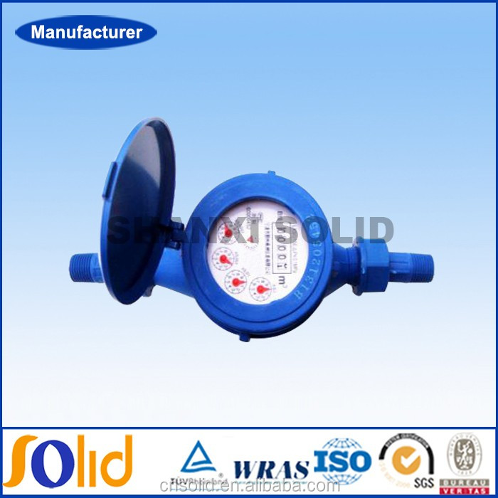 Plastic Multi Jet Water Meter Domestic Super Dry Dial Cold Type