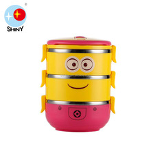 Three floors Stainless Steel Tiffin Carrier Thermal Lunch Box For Kids