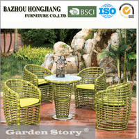 HJ1618Rattan Chair and round wicker dining table garden outdoor furniture
