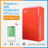 Smart APP remote control air cleaner hepa ionizer wiht UV lamp