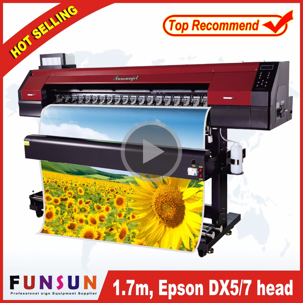 2017 new model Funsunjet FS-1700M classical outdoor wit color eco solvent printer