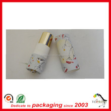 OEM/ ODM welcome mini diameter custom design cosmetic paper packaging lipstick tube with plastic inner