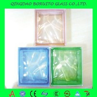 Hot sale colored/clear glass brick price