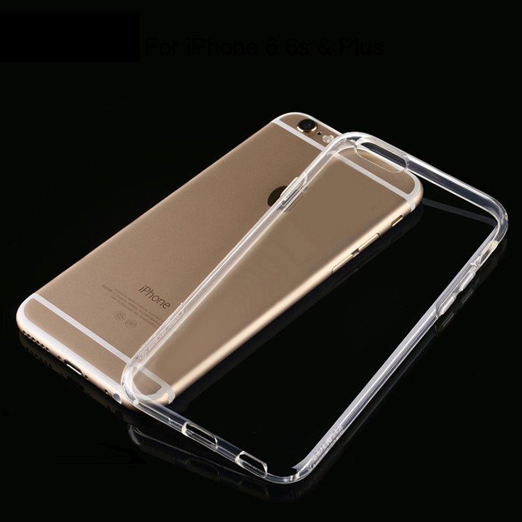 Best Selling Trendy Wear-resistant Transparent Soft TPU Phone Case For iphone 6 6s & Plus