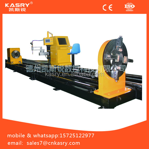 Kasry cnc pipe profile cutting machine//3d orbital stainless steel pipe beveling machine//plasma pipe mental cutter