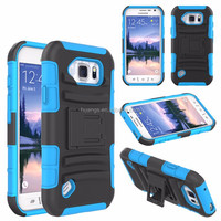 For Samsung Galaxy S6 Active G890 Case PC+Silicon Shockproof Hard Hybrid Rubberized Kickstand Case For Samsung S6 Active