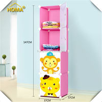 Yiwu assemble plastic portable folding baby wardrobe