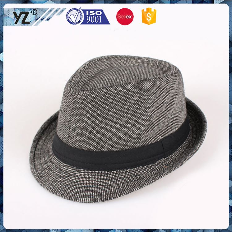 Hot promotion custom design sexy mens homburg hat for promotion