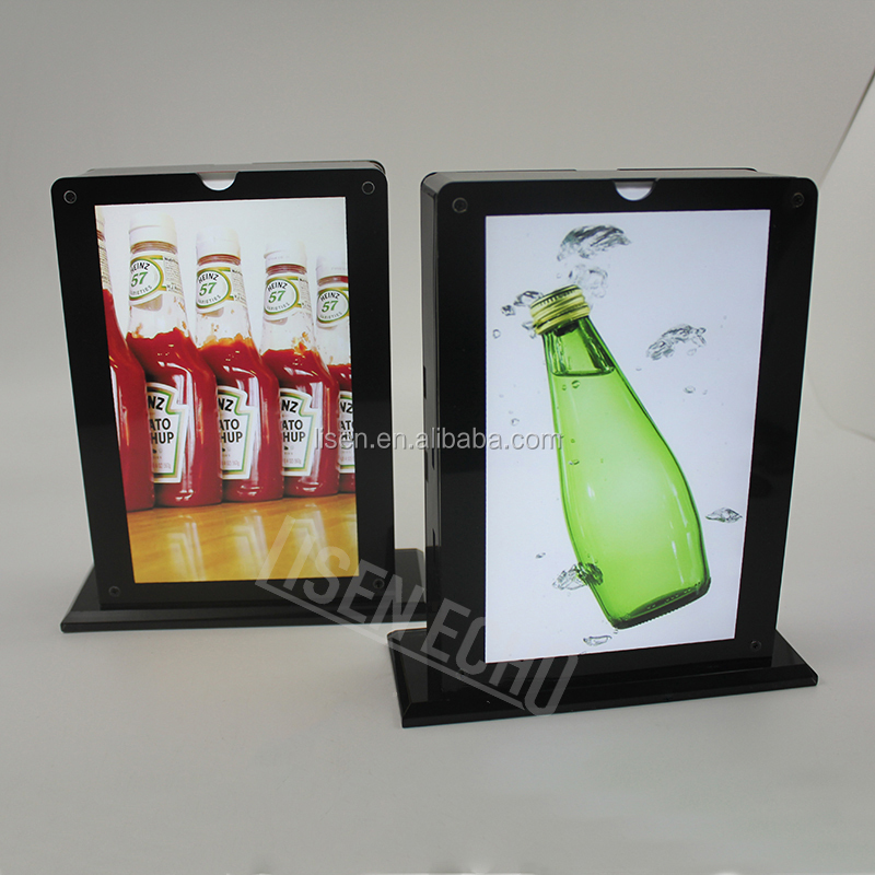 2016 hot selling acrylic 7 inch led light boxes 10000mAh restaurant power bank