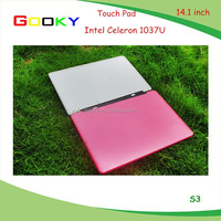 14.1 inch laptop on alibaba gold supplier for notebook Intel Celeron 1037U laptop Manufacturers china laptop price in india