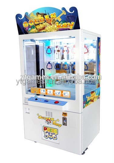 Bulk mini key master arcade prize redemption game vending machine for shopping mall