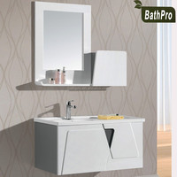 Modern Style modern design bathroom furniture vanity white hanging bathroom cabinets
