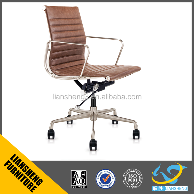 2016 chairing furniture office emes lounge chair metal frame leather chair