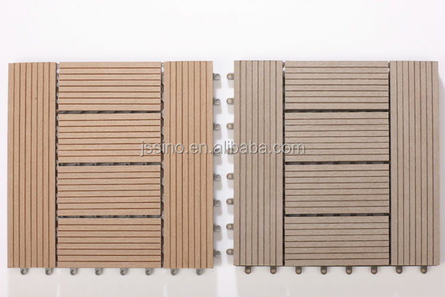 Non-slip wood composite decking tiles white, modular plastic floor tiles, interlocking removable floor tiles, plastic base tile
