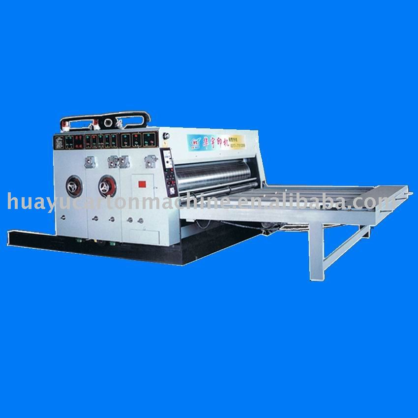 HY-C6 series common high grade flexo printer slotter/carton making machine/flexo printing slotting machine