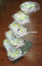 5 tier Acrylic floating cake decoration wedding cup cake stands