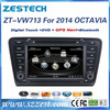ZESTECH OEM 7 inch 2 Din Car dvd gps for VW 2014 skoda OCTAVIA DVD GPS Navigation with Bluetooth 3G AM/FM Radio A8 chipset