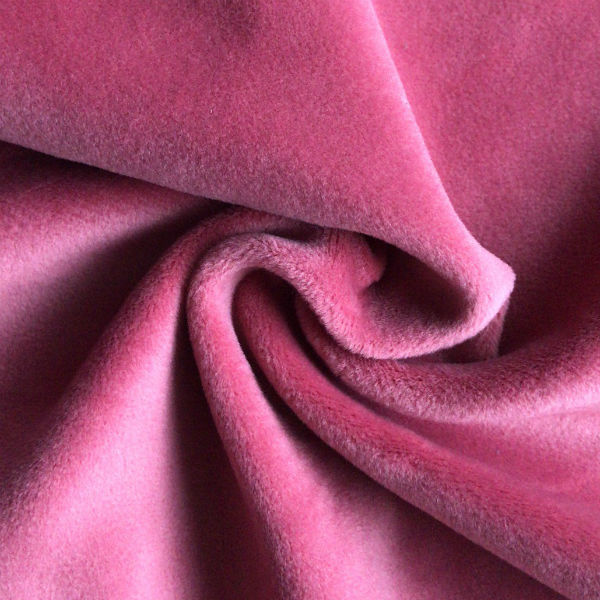 RECYCLED <strong>POLYESTER</strong> AND SPANDEX SUPER SOFT VELVET FABRIC