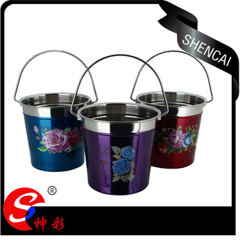 Promotional 1.3L stainless steel beer champagne bucket wine cooler