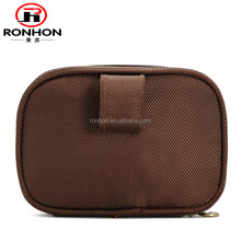 portable oxford mini brown travel cosmetic bag wash bag make up pouch,both women and men