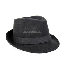 cosum brand wholesale fashion black and grey cheap men cheap fedora hats for men