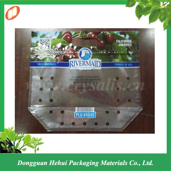 Manufacturer perforated plastic bag for fruit packing