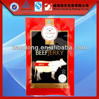 HOT! quality safety custom printed beef jerky packaging bags