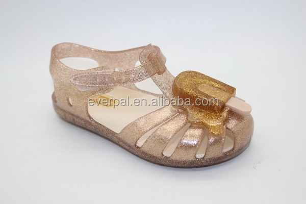 Kids Flat Summer Sandals 2017 With Glitters