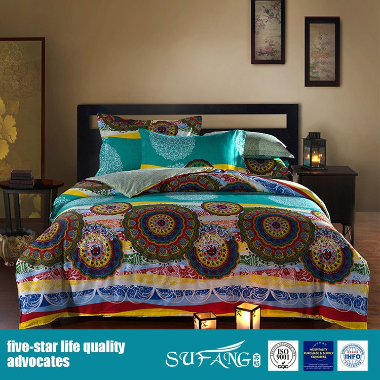 400TC 100% cotton sateen bedding collection, home bedroom set, adult use bedding set