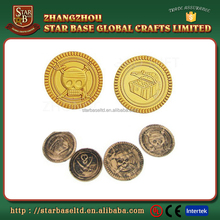 Game toy premium quality plastic pirate gold coins