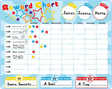 40 x 30cm Magnetic Reward Star Chart for Children, magnetic Durable Board