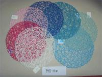 New Arrived wholesales handmade woven decorative round paper placemat for Kitchen