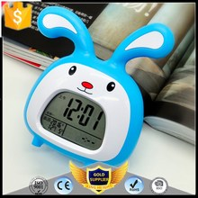 KH-0374 Hot Sale Multifunctional Talking Lovely Animal Alarm Clock With Digital LCD Table
