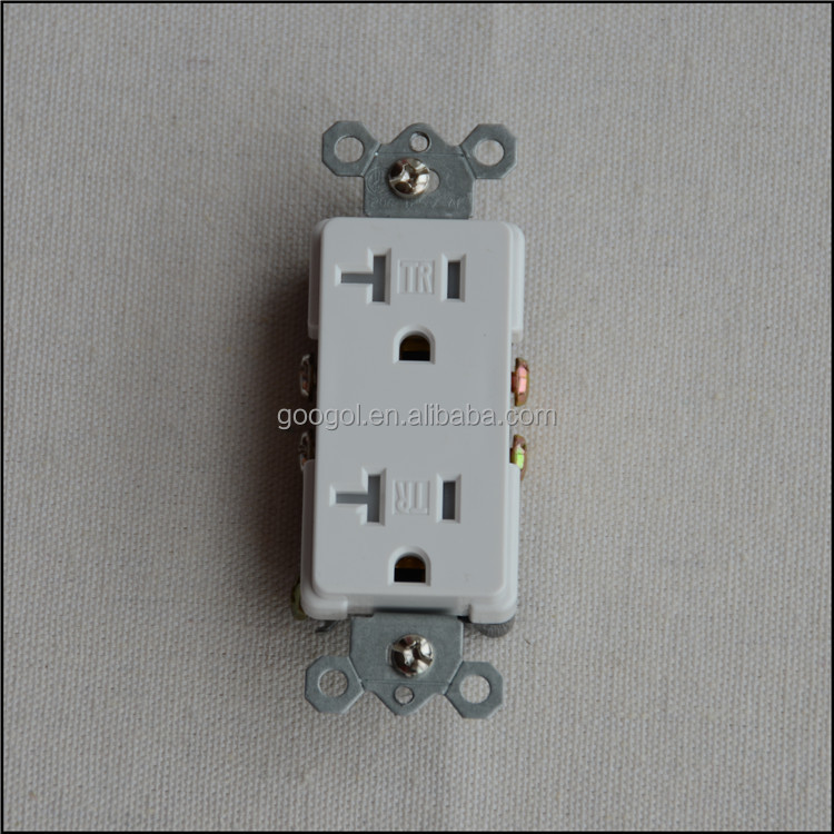 20-Amp White Decorator Duplex UL Approved Electrical Outlet