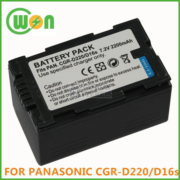 CGR-D220 CGR-D210 D16S Camera Battery for Panasonic PV-DV51 DV52 DV53 DV73 DV100 DV200 DV700 PVD-401