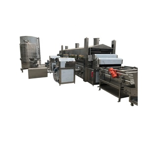 Fully Automatic Potato Chips Making Machinery Plantain Frites Surgeler Processing Plant Frozen French Fries Production Line
