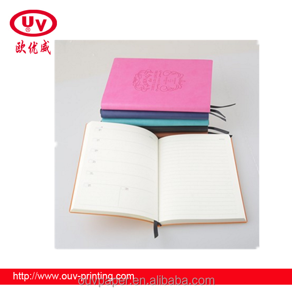 2017 hot ale Best sale cover PU leather notebook design your own PU notebook