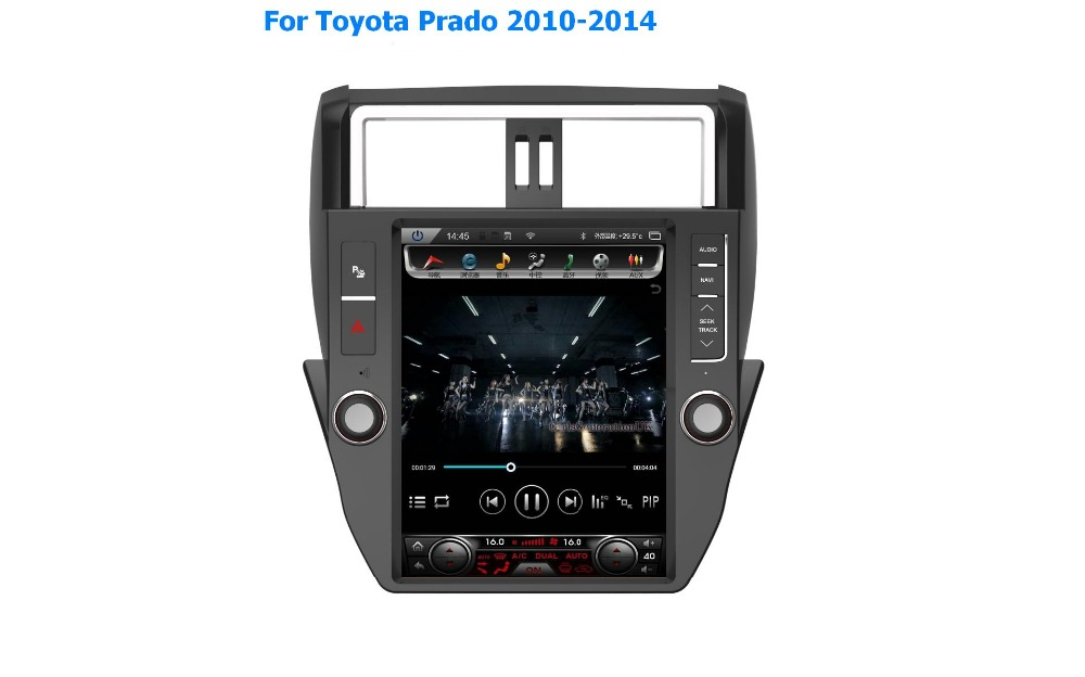 12.1inch vertical touch screen for Toyota Prado 2010-2014 android 5.1 car multimedia player professional provider for 4s