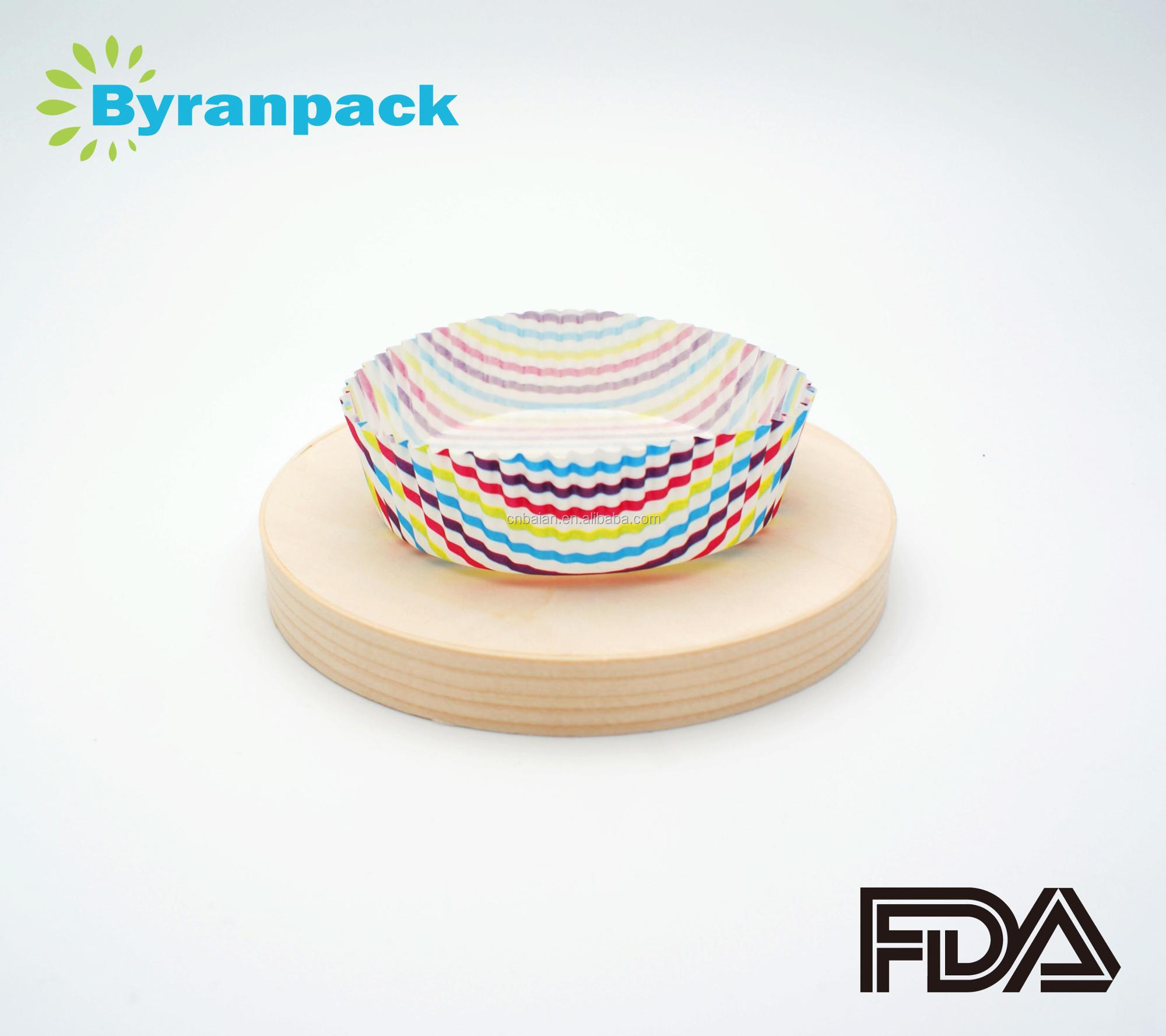 Color stripe PE coated paper baking cup