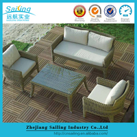 Best Sale Poly Ratan 4 Piece Garden Furniture Sofa Set