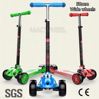 3 in 1 foot pedal foldable maxi big wheel child kids kick scooter