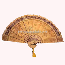 hot sale high quality gift chinese folk craft wooden fan craft