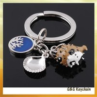 Manufacturers Selling Simulation Drop Of Oil High - grade Globefish Key chain Wholesale ZY5234